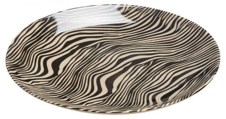 Ontbijtbord Zebra Zwart Wit
