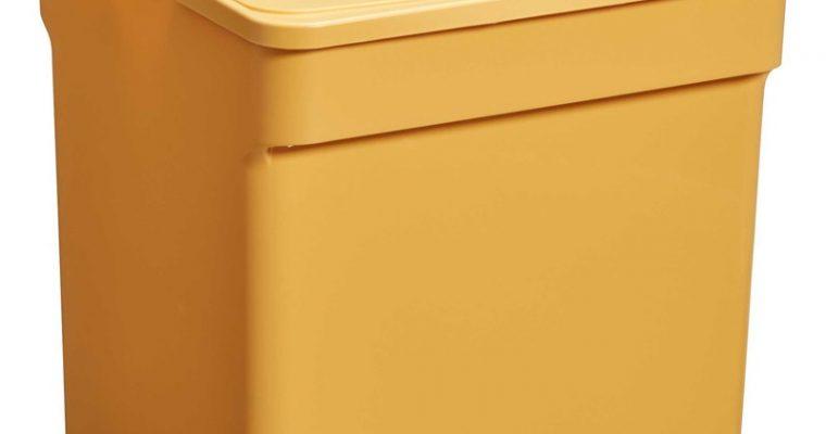 Opbergbox Met Deksel Geel 32 Liter