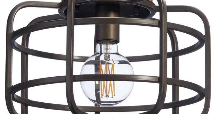 Plafondlamp Wood Zwart