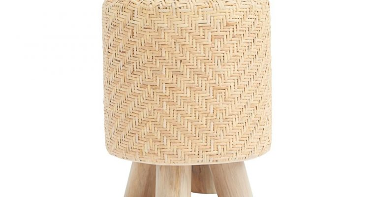 House Doctor Poef Weave natuur 46cm   id0990   House Doctor