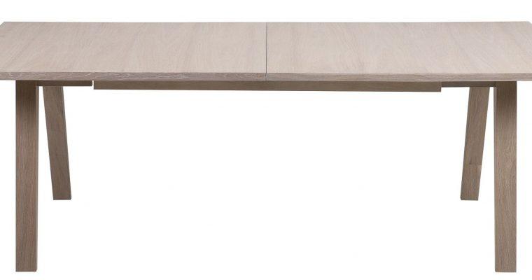 24Designs Bornholm Uitschuifbare Eettafel 210/310 X 100 X 74 – Eiken White Wash | 8720143240041
