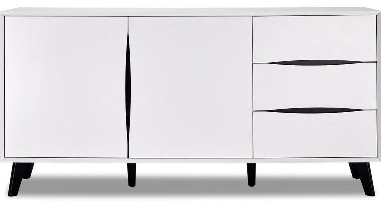 24Designs Lyon Dressoir – B160 X D40 X H80 Cm – MDF – Wit   8720195956587