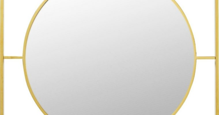 Kare Design Spiegel Stanford Frame Gold – B90 X D2,5 X H90 Cm – Goudkleurig | 4025621854234
