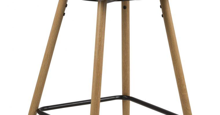 Barkruk 'Louise' (zithoogte 73cm) kleur lichtgrijs | 5705994906813