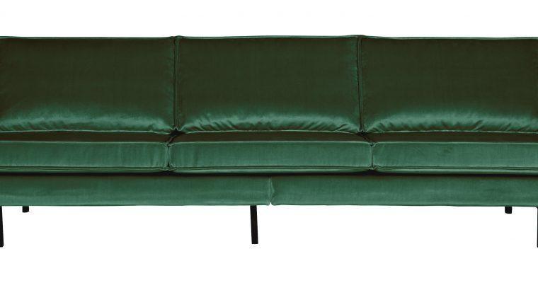 BePureHome Bank 3-zits 'Rodeo' Velvet, kleur Forest Green   8714713065790