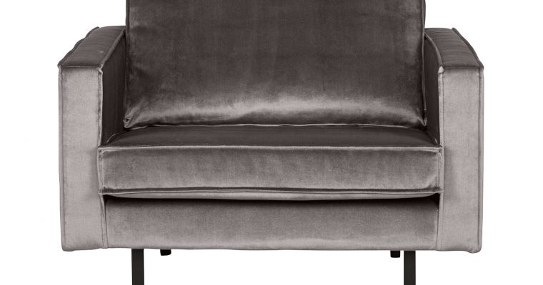 BePureHome Fauteuil 'Rodeo' Velours, kleur Taupe   8714713065264