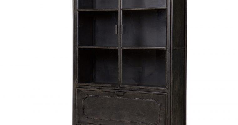 BePureHome Vitrinekast 'Steel Storage' Metaal, kleur zwart | 8714713054084