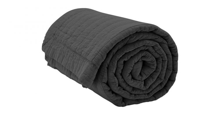 By Nord Bedsprei Magnhild Coal 280x160cm | 561137073 | By Nord