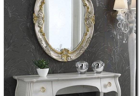 Exclusieve ovale spiegel Clementia | Barokspiegel.nl