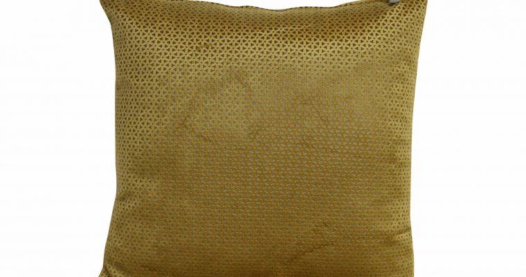 Initials kussen studio Loreto Rich Gold 45x45cm   255-450-026   Initials