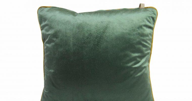 Initials kussen studio Murano Moss Green 45x45cm   255-450-091   Initials