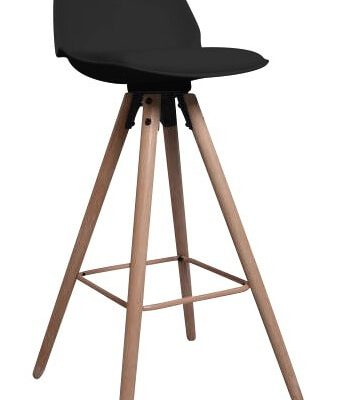 Interstil Barkruk 'Oslo', kleur zwart | 5706553426599