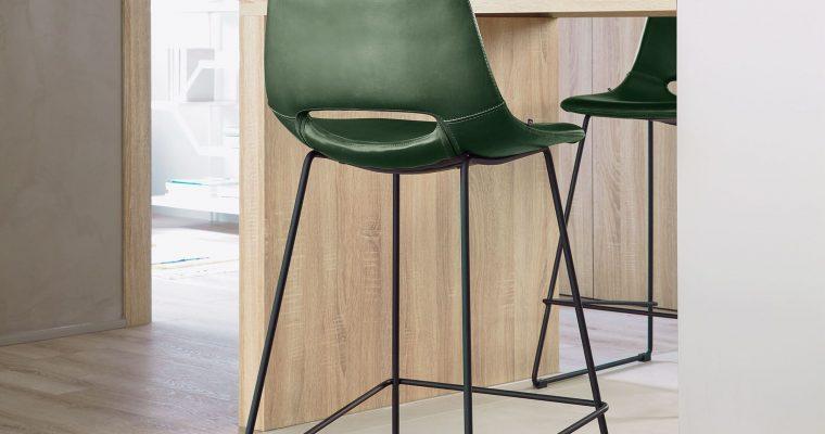 Kave Home Barkruk 'Zendaya' kleur Groen | 8433840489162