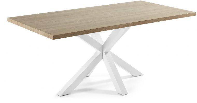 Kave Home Eettafel 'Argo' wit / hout, 200 x 100cm | 8433840272108