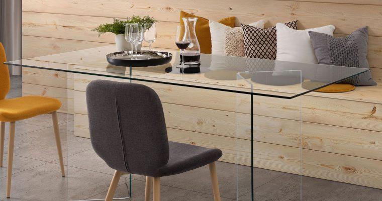 Kave Home Glazen Eettafel 'Burano', 180 x 90 cm | 8433840276649