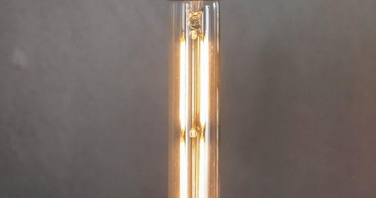 Kooldraadlamp 'Buis' E27 LED 4W goldline 18,5cm, dimbaar | 8713244000225