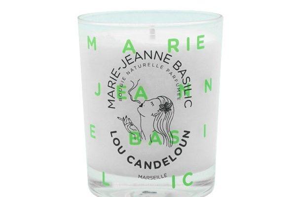 Lou Candeloun Geurkaars Maie-Jeanne Basilic 150g   BMARI150   Lou Candeloun