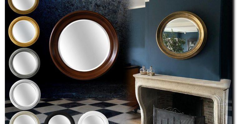 Massief houten Spiegel Rond Brunella | Barokspiegel.nl