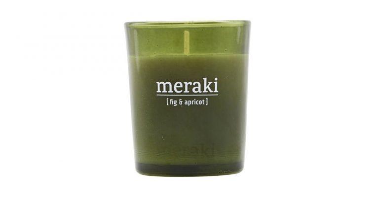 Meraki Geurkaars Fig & Apricot groen   308150052   Meraki