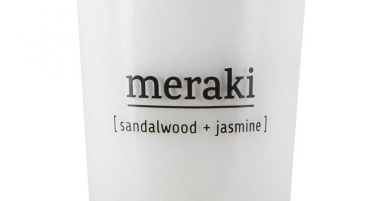 Meraki Geurkaars Sandalwood & Jasmin wit   308150021   Meraki