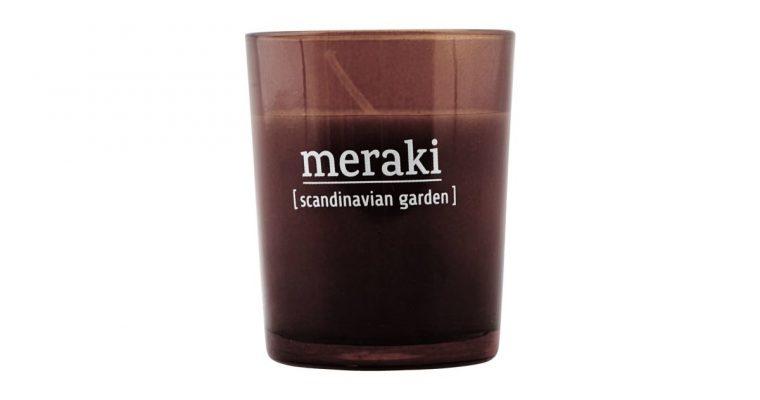 Meraki Geurkaars Scandinavian garden rood   308150040   Meraki