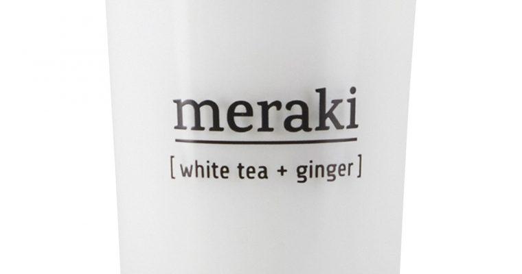 Meraki Geurkaars White Tea & Ginger wit   308150022   Meraki