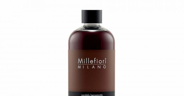Millefiori Milano Navulling voor geurstokjes 500ml Sandalo Bergamotto   7RESB   Millefiori Milano