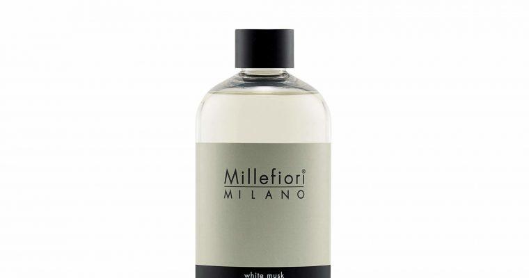 Millefiori Milano Navulling voor geurstokjes 500ml White Musk   7REMB   Millefiori Milano