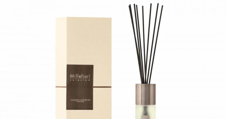 Millefiori Milano Selected geurstokjes Golden Saffron 100ml   22PDGS   Millefiori Milano