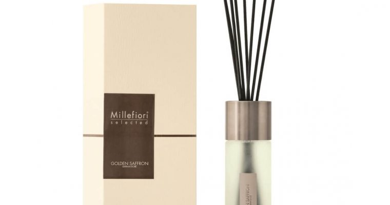 Millefiori Milano Selected geurstokjes Golden Saffron 350ml | 22MDGS | Millefiori Milano