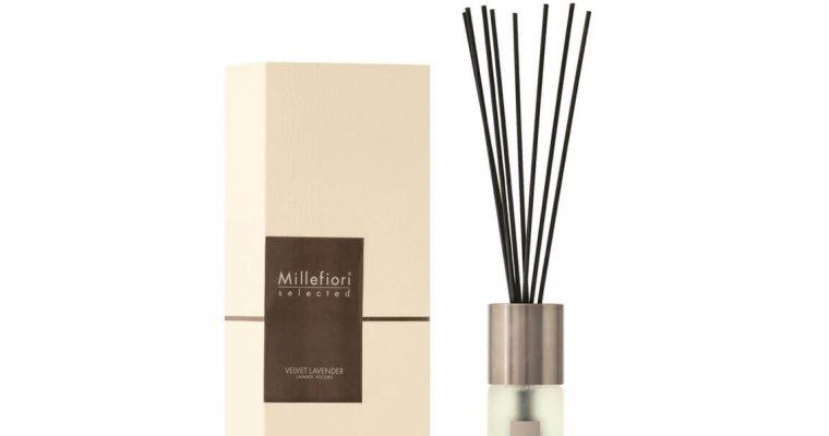 Millefiori Milano Selected geurstokjes Velvet Lavender 100ml   22PDVL   Millefiori Milano