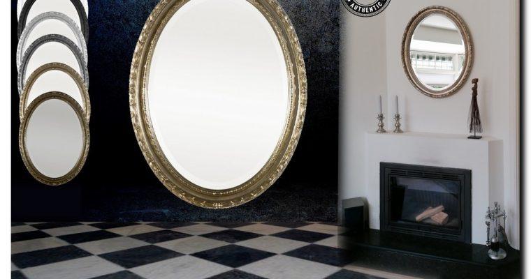 Mooi bewerkte Ovale spiegel Marina | Barokspiegel.nl