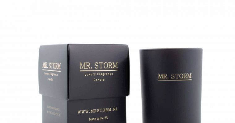 Mr Storm Geurkaars Black en White Orchidea klein   450007   Mr Storm