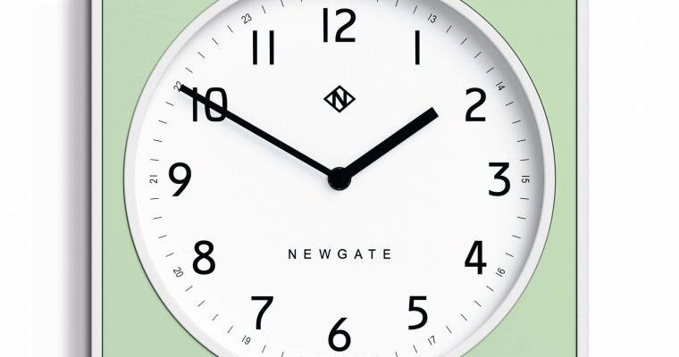 Newgate Burger & Chips wandklok mint 29cm | BURG261WNM | Newgate