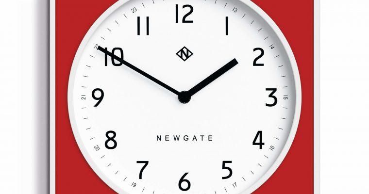 Newgate Burger & Chips wandklok rood 29cm | BURG261WFER | Newgate