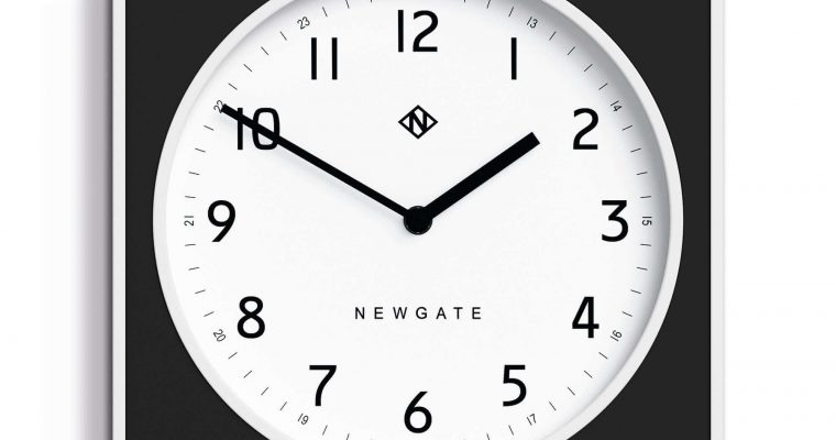 Newgate Burger & Chips wandklok zwart 29cm | BURG261WK | Newgate