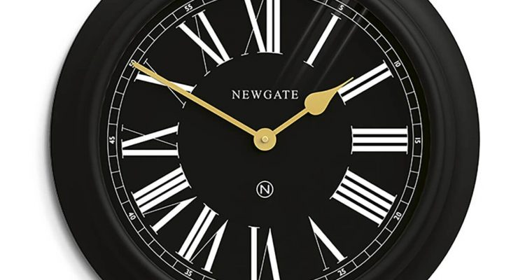 Newgate Chocolate Shop wandklok All Black 50cm | CHOC435CK | Newgate