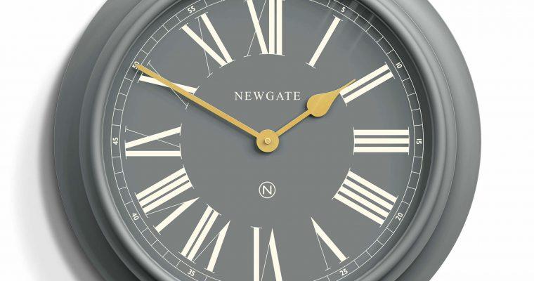 Newgate Chocolate Shop wandklok grijs 50cm | CHOC350PGY | Newgate