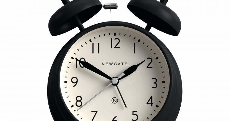 Newgate Covent Garden wekker zwart | CGAM587K | Newgate