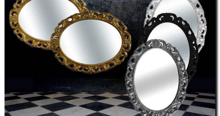 Ovale rococo spiegel Lorenza | Barokspiegel.nl