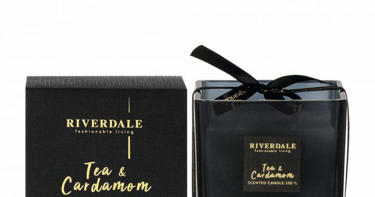 Riverdale Geurkaars Deluxe zwart groot   001718-21   Riverdale