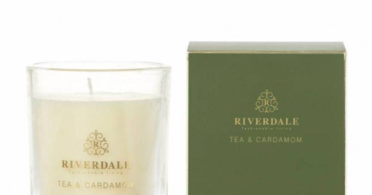 Riverdale Geurkaars Elements groen 10cm | 002007-19 | Riverdale
