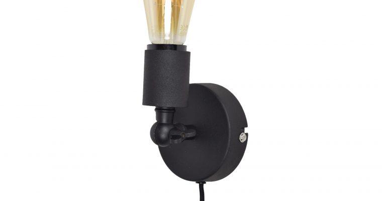 Urban Interiors wandlamp 'Bulby', kleur Vintage Black | 8719325005356