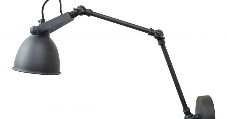 Urban Interiors wandlamp 'Desky' Ø12cm, kleur Vintage Black | 8719325171273
