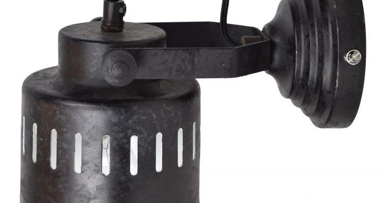 Urban Interiors wandlamp 'Vintage' Ø11,5cm, kleur Rough Black | 8719325005615