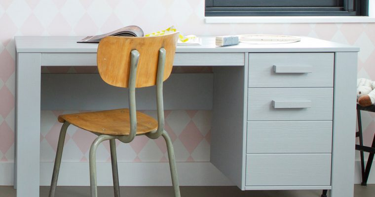 WOOOD Bureau 'Dennis', kleur betongrijs | 8714713052561