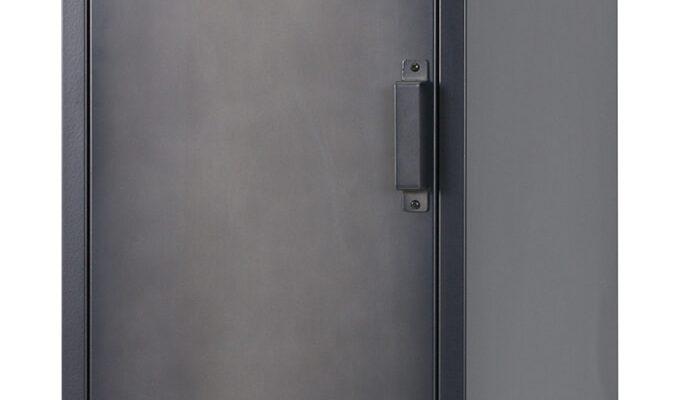 WOOOD Locker 'Cas' metaal met 1 deur, kleur zwart | 8714713069552