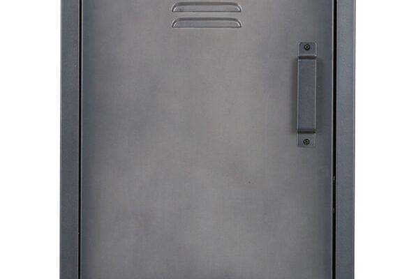 WOOOD Locker 'Cas' metaal met 3 deuren, kleur zwart | 8714713069545