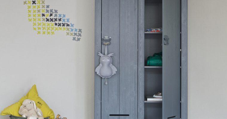 WOOOD Opbergkast 'Kluis', kleur grijs | 8714713038091