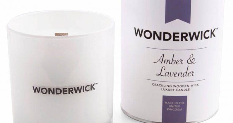 Wonderwick Amber Lavender kaars wit   149-03873   Wonderwick